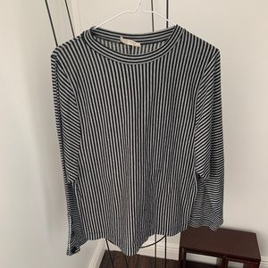 Zara Trafaluc Size Small Black & White Stripe Top